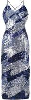 House of Holland sequined slip dress - women - Polyester/Viscose/glass/Acrylic - 14