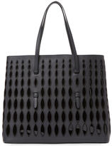 Alaia Large Leather Eyelet Embroidered Tote