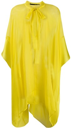 Haider Ackermann Asymmetric Sheer Blouse