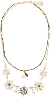 Anton Heunis 'Star' crystal embellished double necklace