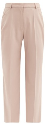 Another Tomorrow - High-rise Wool Flared Trousers - Beige