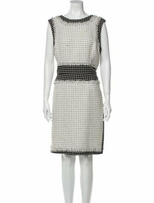 Oscar de la Renta 2011 Knee-Length Dress White