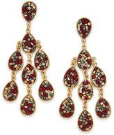 INC International Concepts Gold-Tone Beaded Teardrop Chandelier Earrings, Created for Macy's