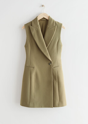 And other stories Fitted Sleeveless Blazer Mini Dress