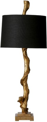 OKA Sequoia Table Lamp and Shade - AntiqueGold/Black