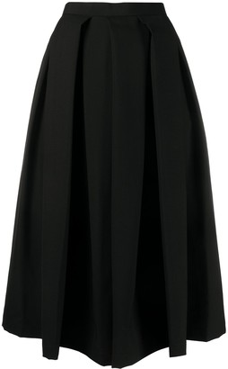 Comme des Garçons Comme des Garçons High-Waisted Flared Skirt