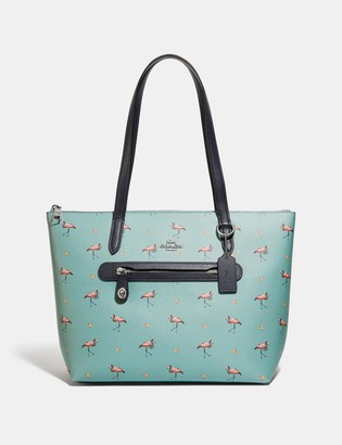 Coach Taylor Tote With Flamingo Print