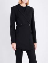 Helmut Lang Deconstructed stretch-wool blazer dress