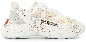 Love Moschino paint splatter sneakers