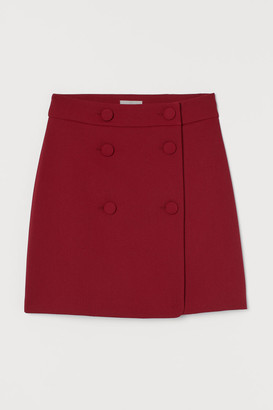 H&M Double-buttoned Skirt - Red
