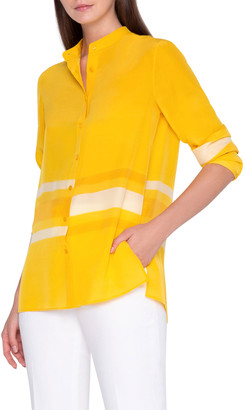 Akris Monochrome Striped Tunic Shirt