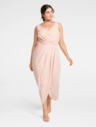 Forever New Vienna Curve Formal Wrap Dress - SOFT BLOOMS - 16