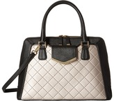 Calvin Klein On My Corner Saffiano/Quilted Fara Satchel