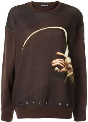 Undercover hand print sweatshirt
