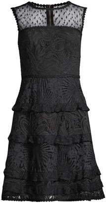 Lilly Pulitzer Kasee Lace Combo Sleeveless A-Line Dress