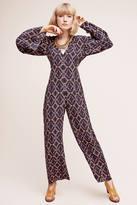 Carolina K. Liset Silk Bell-Sleeve Jumpsuit