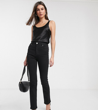 Asos Tall DESIGN Tall Super high rise sculpting 'sassy' cigarette jeans in black