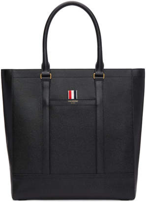 Thom Browne Black Pebbled Tote
