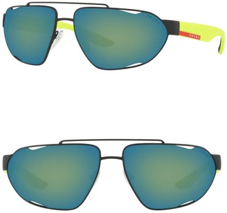 Prada Linea Rossa 66mm Irregular Sunglasses