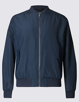 M&S Collection Baseball Bomber Jacket with StormwearTM