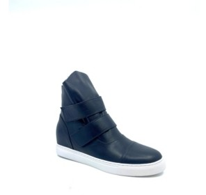 All Black Women's Banded High Top Sneaker Women's Shoes