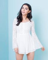 Missy Empire Celina Cream Lace Romper Playsuit