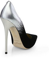 Jimmy Choo Anouk Suede & Metallic Leather Degrade Pumps