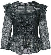 Marissa Webb ruffled lace blouse