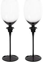 Versace Medusa Lumiere Haze Red Wine Glasses - Set of 2