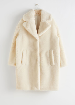 And other stories Oversized Faux Shearling Coat