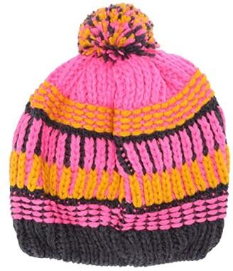 Lego Knitted Snow Beanie with 3M Scotchlite Reflector and Pom Pom (Little Kids/Big Kids) (Dark Pink) Caps