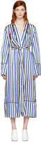 Off-White Blue Striped Pyjama Robe