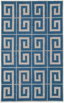 Payne Rizzy Home Vicky Collection Greek Key Rug in Blue