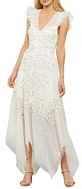 BCBGMAXAZRIA Embroidered Tulle Gown - 100% Exclusive