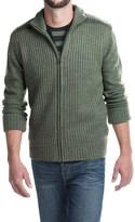 Weatherproof Sherpa-Lined Cardigan Sweater - Zip Front (For Men)