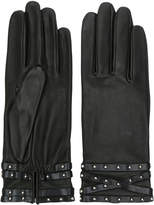 Agnelle studded cuff gloves