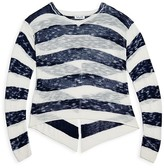 Splendid Girls' Sheer Slubbed Crossover Back Sweater - Big Kid