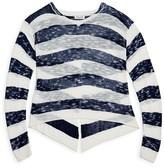 Splendid Girls' Sheer Slubbed Crossover Back Sweater - Sizes 7-14