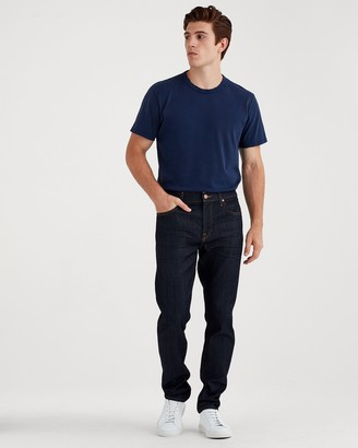 7 For All Mankind Airweft Denim Adrien Slim Tapered with Clean Pocket in Caveat