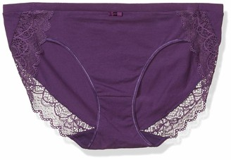 Bali Women's Cotton Desire Sheer Lace Hipster
