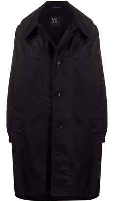 Y's Cocoon Single Breasted Coat