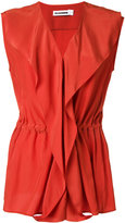 Jil Sander wrap sleeveless blouse