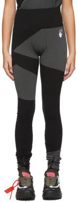 Off-White Black Athleisure Seamless Sport Leggings