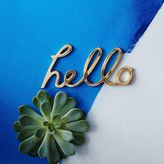 west elm Hello Word Object