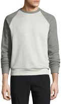 Theory Veton B Axis Terry Sweatshirt, Light Gray
