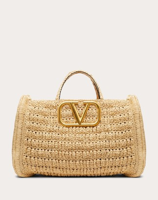 Valentino In.it Raffia Handbag Women Multicolored Viscose 100% OneSize