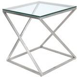 Lumisource Glass Side Table Clear