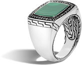 John Hardy Classic Chain Signet Ring with Nephrite Jade
