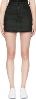 Marcelo Burlon County of Milan Black Denim Katt Miniskirt