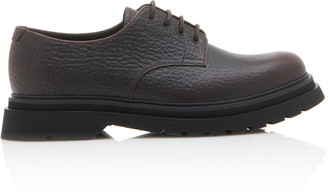 Prada Textured-Leather And Rubber Derby Shoe